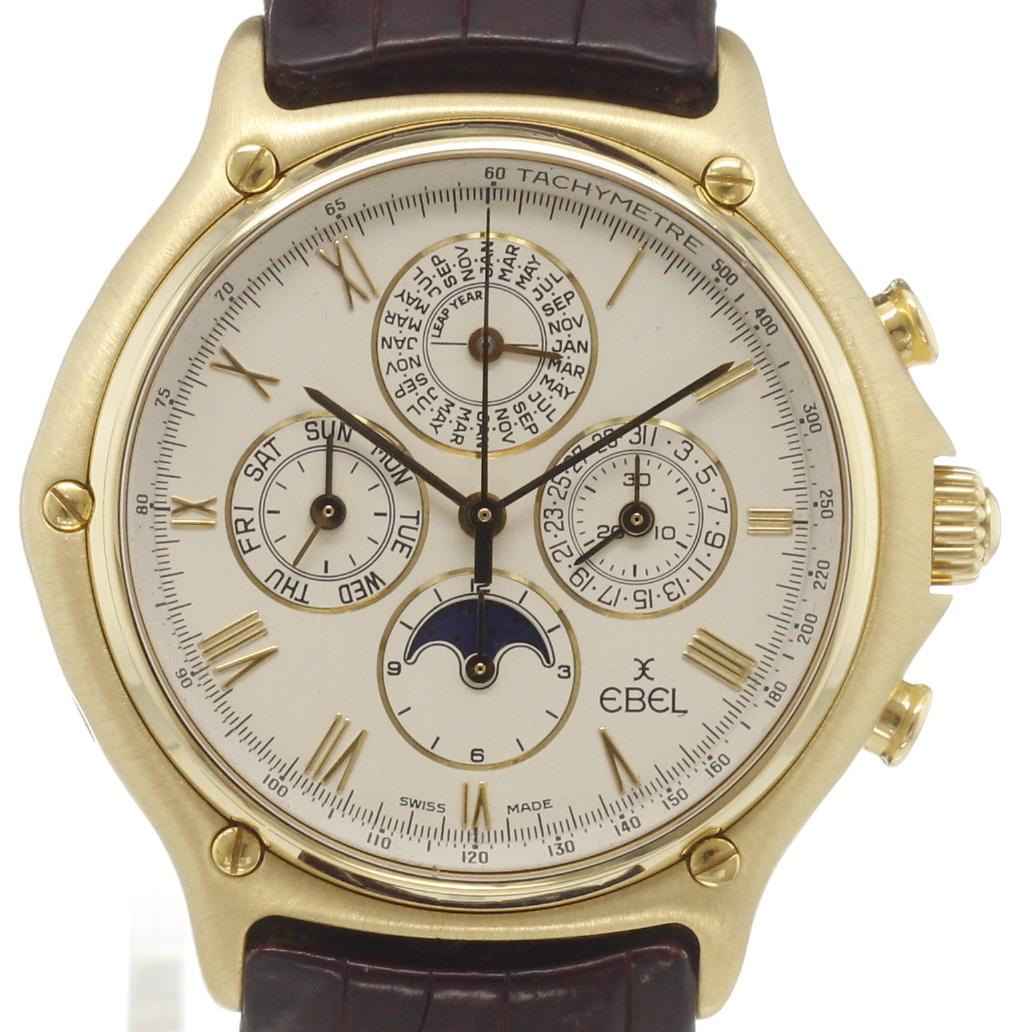 Perpetual Calendar Chronograph : Ebel perpetual calendar chronograph moonphase for