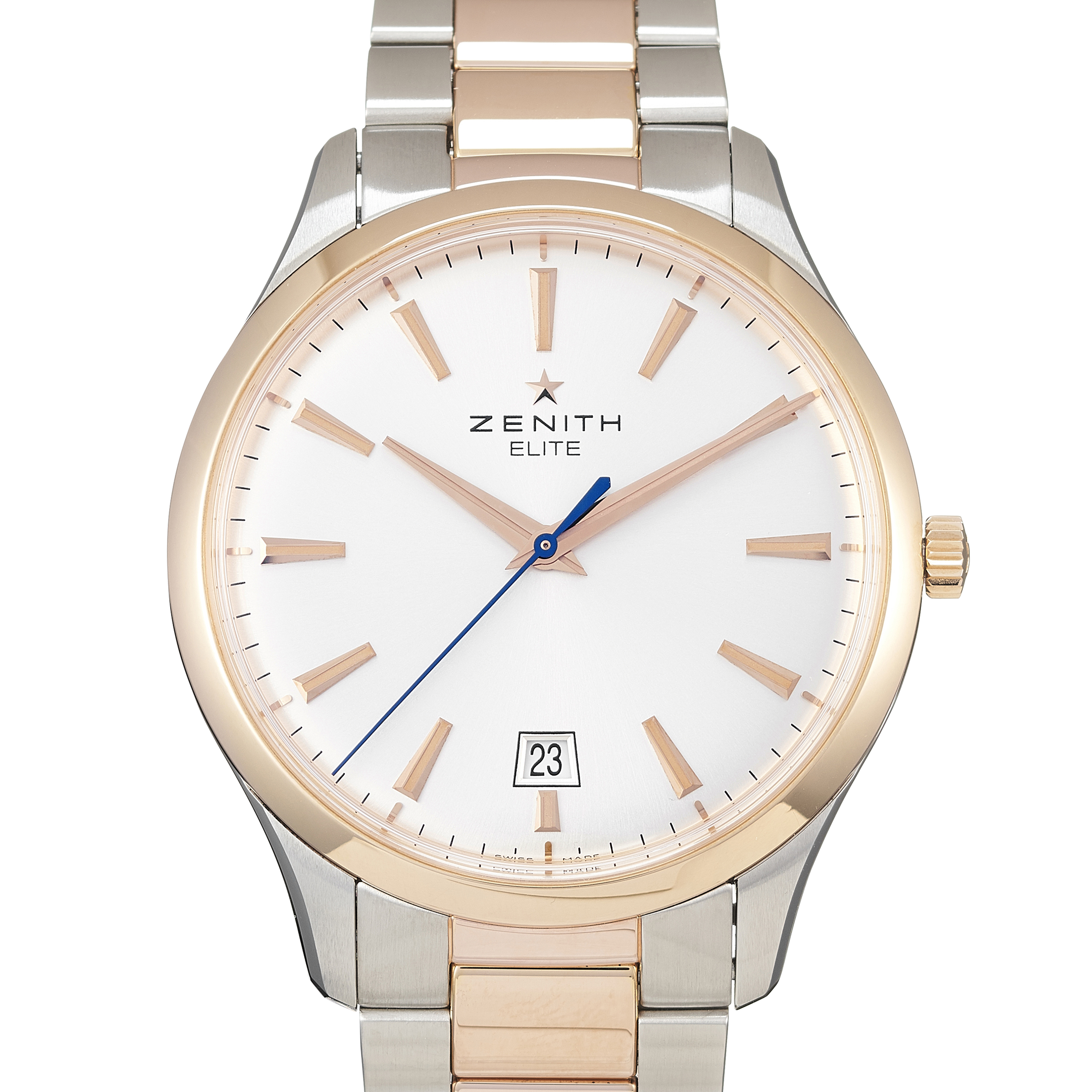 Zenith Captain Central Second Stainless Steel & Rose Gold - 51.2020.670/01.M2020
