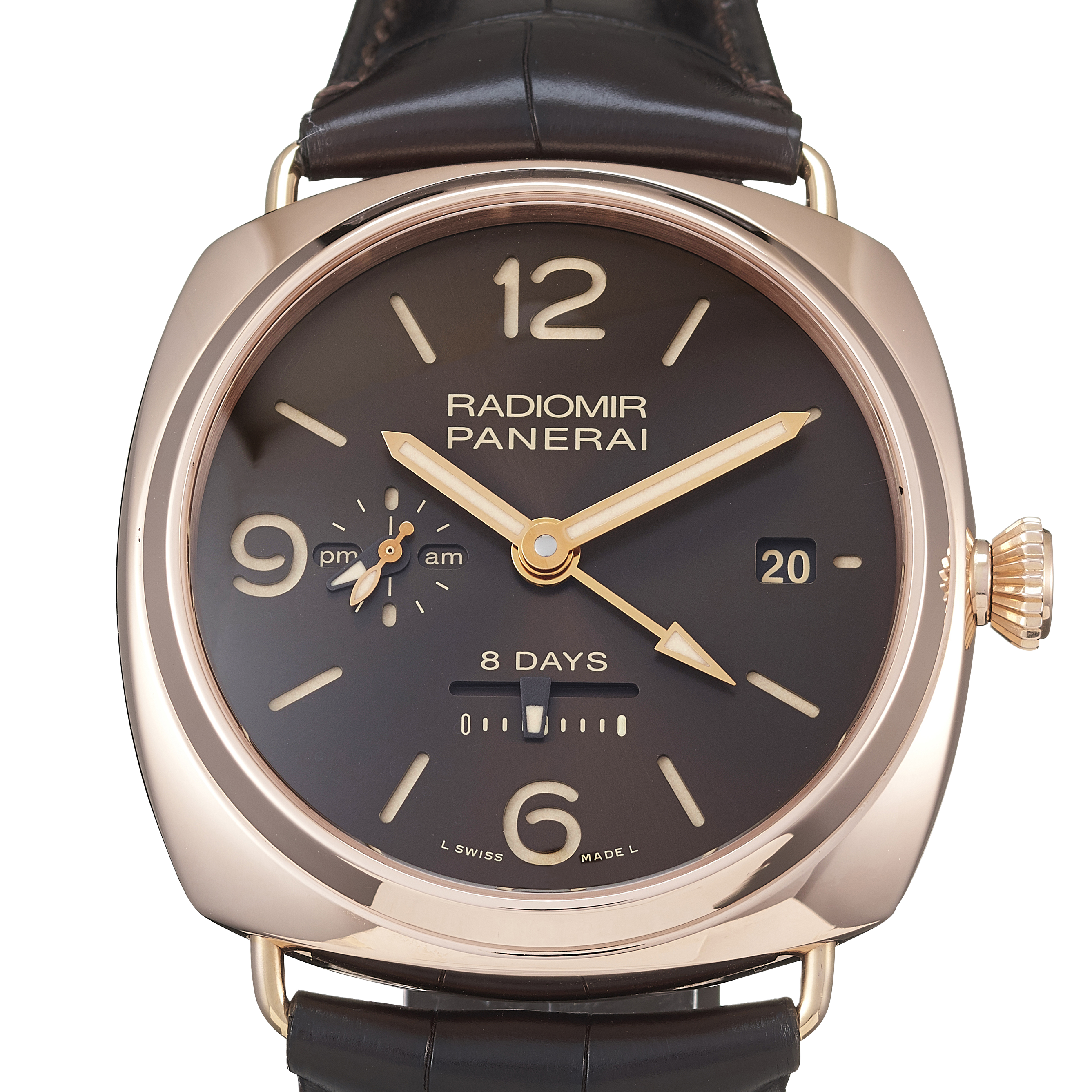 Panerai Radiomir 8 Days GMT Oro Rosso Rose Gold - PAM00395